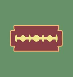 Razor blade sign cordovan icon and mellow vector