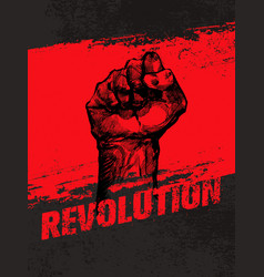 Revolution social protest creative grunge vector