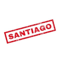 Santiago rubber stamp vector