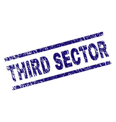 scratched textured third sector stamp seal vector image