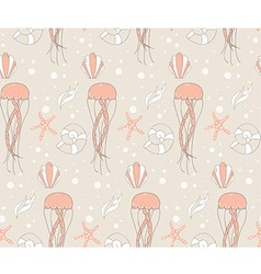 Seamless pattern with underwater scene vector image vector image
