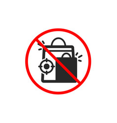 Seo shopping bags icon search engine optimization vector