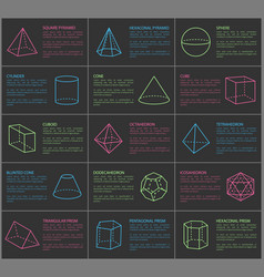 shapes collection and text vector image