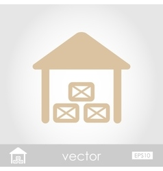 Shed icon vector