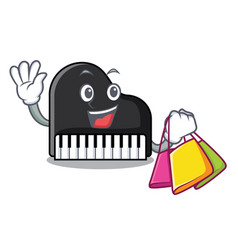 shopping piano character cartoon style vector image