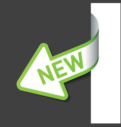 sign new on arrow vector image