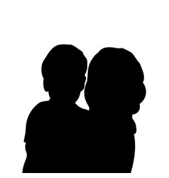 silhouette mom with bacloseup vector image
