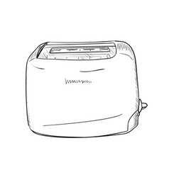 Sketch of toaster vector