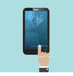 Slide to unlock smartphone vector