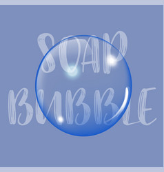 Soap bubble background with text vector