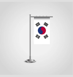 South korea flag pole vector
