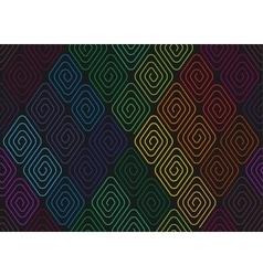 Spirals seamless pattern vector