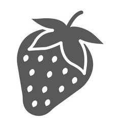 Strawberry glyph icon fruit and vitamin vector