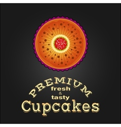Sweet and tasty delicious food best cupcake vector