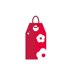tag price with flower sale commerce icon vector image