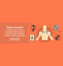 Tattoo master banner horizontal concept vector