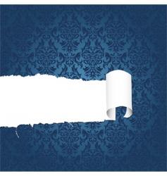 torn floral paper vector image