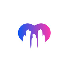 town city landscape logo vector image