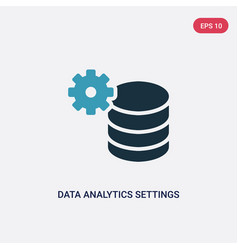 two color data analytics settings icon from user vector image