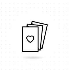 valentine card icon vector image