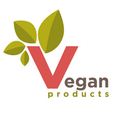 vegan products emblem vector image vector image