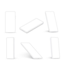 white smartphone cellphone with blank screen vector image