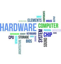 Word cloud hardware vector
