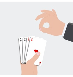 ace playing card set vector image