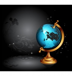 ancient globe vector image