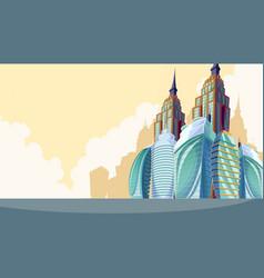 cartoon of an urban landscape vector image