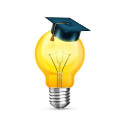 master cap on the bulb creative idea object on a vector image
