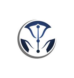 othopedic logo logo design template vector image
