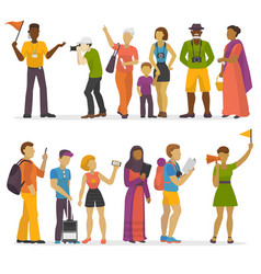 people family traveling on vacation traveler vector image