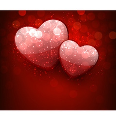 Valentines red background vector image