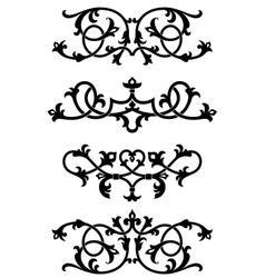 Vintage floral patterns and elements vector image vector image