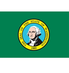 washington flag vector image