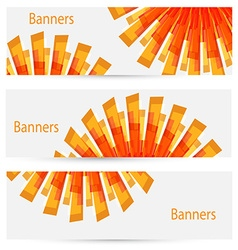 abstract creative light banners vector image