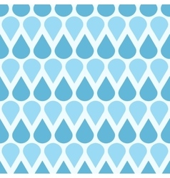 Blue falling water drops seamless pattern vector image vector image
