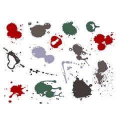 blood splat splash spot ink stain blot patch vector image vector image