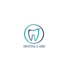 dental care icon logo design template vector image