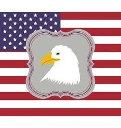 usa emblematic seal design vector image