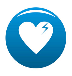 broken heart icon blue vector image