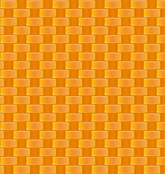 cane weaving pattern vector image vector image