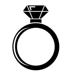 diamond engagement ring icon simple style vector image