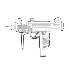 outline uzi vector image