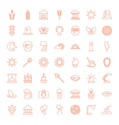 49 light icons vector image