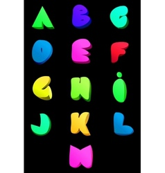 Abstract english alphabet Comic style A-M vector
