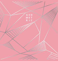 abstract silver line geometric on pink background vector image