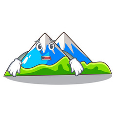 Afraid mountain scenery isolated from the mascot vector