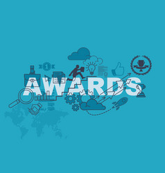 awards abstract background design concept vector image